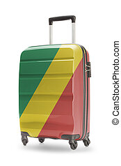 Suitcase with national flag on it - Congo-Brazzaville -...