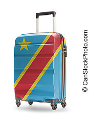 Suitcase with national flag on it - Congo-Kinshasa -...