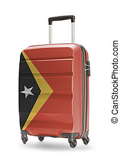 Suitcase with national flag on it - East Timor - Suitcase...