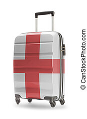 Suitcase with national flag on it - England