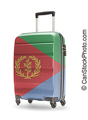 Suitcase with national flag on it - Eritrea - Suitcase...