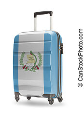 maleta, con, nacional, bandera, en, él, -, guatemala,...