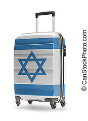 Suitcase with national flag on it - Israel - Suitcase...