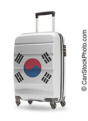Suitcase with national flag on it - South Korea - Suitcase...