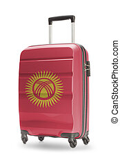 Suitcase with national flag on it - Kyrgyzstan - Suitcase...