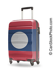 Suitcase with national flag on it - Laos - Suitcase painted...