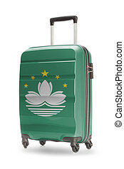 Suitcase with national flag on it - Macau - Suitcase painted...