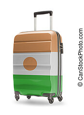 Suitcase with national flag on it - Niger - Suitcase painted...