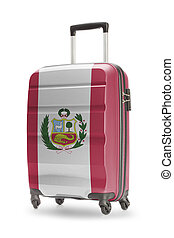 Suitcase with national flag on it - Peru - Suitcase painted...