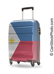 Suitcase with national flag on it - Philippines - Suitcase...