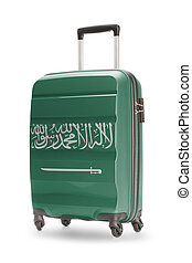 Suitcase with national flag on it - Saudi Arabia