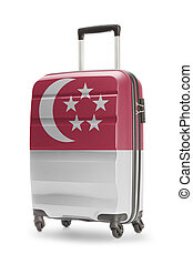 Suitcase with national flag on it - Singapore - Suitcase...