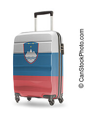Suitcase with national flag on it - Slovenia - Suitcase...