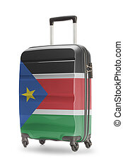 Suitcase with national flag on it - South Sudan - Suitcase...