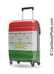 Suitcase with national flag on it - Tajikistan - Suitcase...