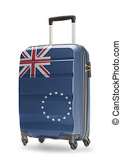 Suitcase with national flag on it - Cook Islands - Suitcase...