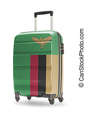 Suitcase with national flag on it - Zambia - Suitcase...