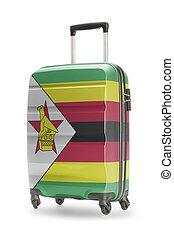 Suitcase with national flag on it - Zimbabwe - Suitcase...