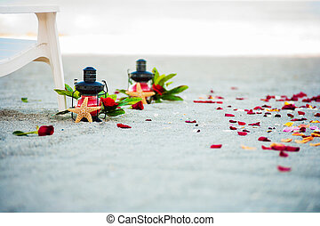 Beach Wedding Ceremony set up - Wedding decoration and...