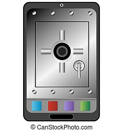 Digital Device Security Icon - An image of a electronic...
