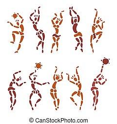 Figures of African dancers.