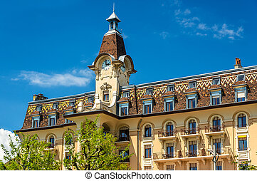 Hotel Aulac, a historic building in Lausanne, Switzerland