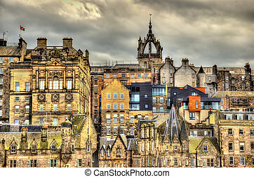 View of the city centre of Edinburgh - Scotland