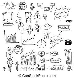 Graphical symbols on white. Vector illustration