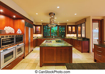 Kitchen in Luxury Home - Beautiful Kitchen in Luxury Home