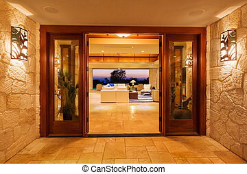Luxury Home - Beautiful Entrance to Luxury Home
