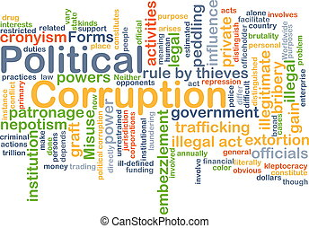 Political corruption background concept - Background concept...