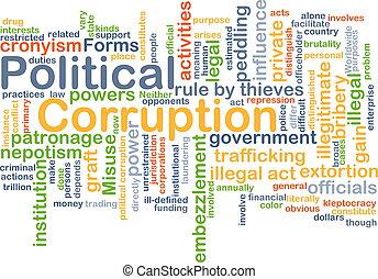 Political corruption background concept - Background concept...