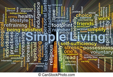 Simple living background concept glowing - Background...
