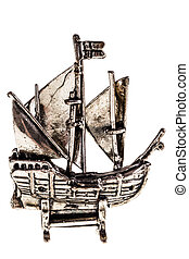 Silver galleon - Silver reproduction of the columbus ship...
