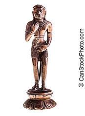 Hanuman statuette - a bronze statuette of Hanuman, a hindu...