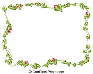 flower and vines frame - drawing of flower and vine pattern...