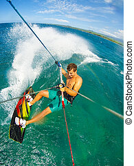 Extreme Sport, Kiteboarding - Kite Boarding Fun in the...