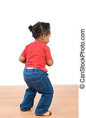 bebé, africano,  adorable, bailando