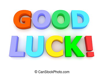 Colourful Good Luck - multicoloured letters Good Luck on...