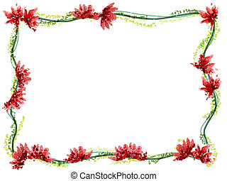 watercolor of flower frame - watercolor drawing of flower...