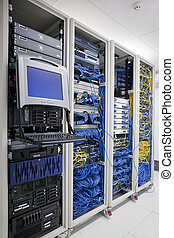 IT Communication Cabinets - The mainframe and communication...