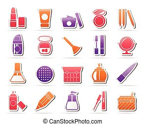 Make-up and cosmetics icons