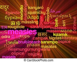 sarampo, multilanguage, wordcloud, fundo, conceito, Glowing,...