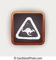 Kangaroo sign doodle
