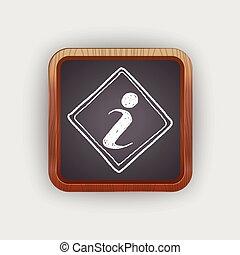 information sign doodle