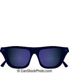 Sunglasses plastic purple with dark glasses vector