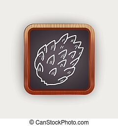 Custard apple doodle