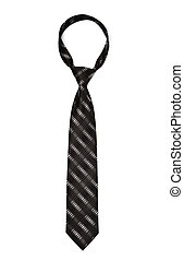 black striped necktie isolated on white
