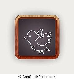 love bird doodle