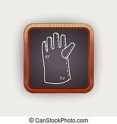 gloves doodle